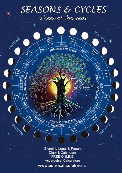 free wheel of year poster astrocal
